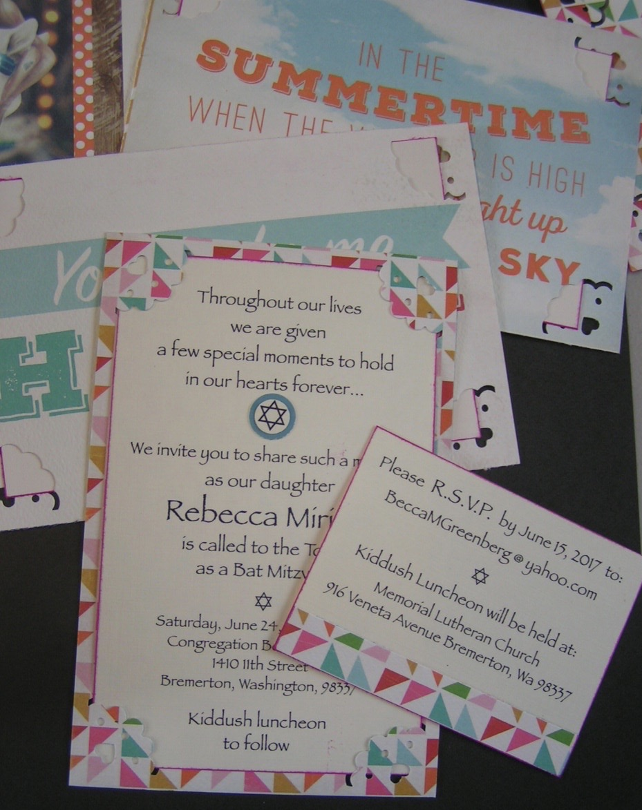 ScraPerfect How to Make Custom Invitations Easy Brilliant Ideas