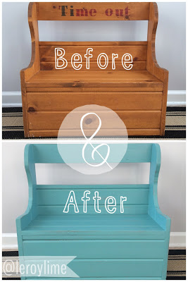 Before & After Bench Makeover : LeroyLime