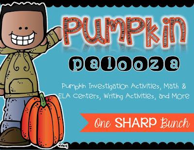 Pumpkin investigation activities, pumpkin math and pumpkin literacy centers, pumpkin writing activities and MORE!