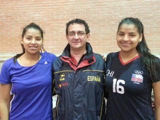Dos chilenas entrenando a prueba en España | Mundo Handball
