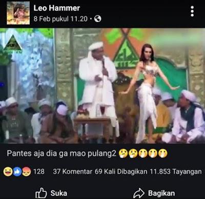 Beredar Video Habib Rizieq Berjoget Bersama Penari Perut, Ini Faktanya
