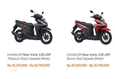 harga Motor  All new Vario 150 eSP