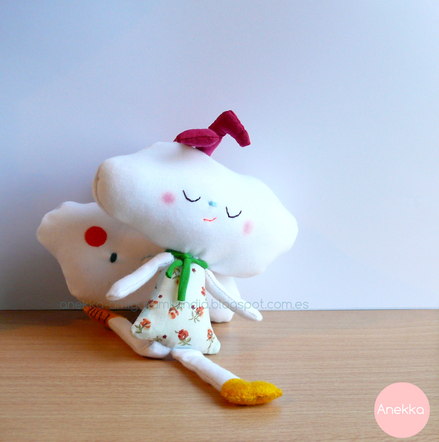 cloud doll anekka handmade