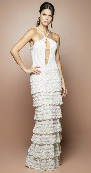 Vanessa Montoro vestido longo de crochê