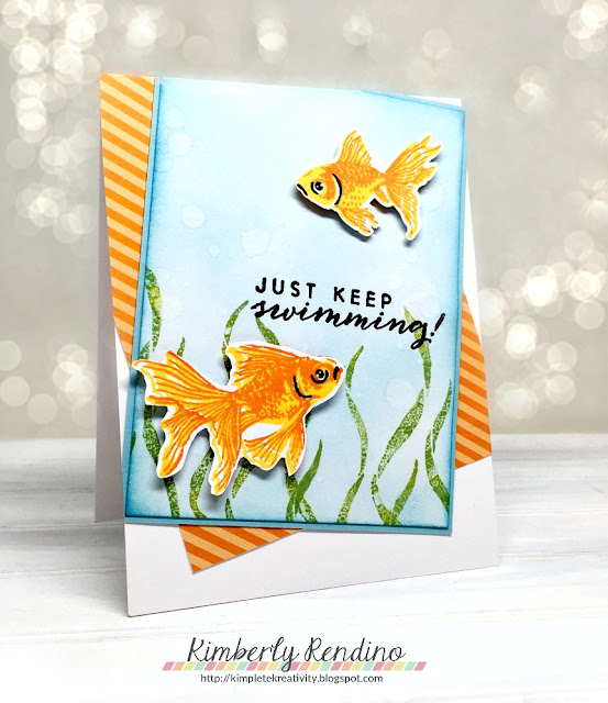 goldfish | layering stamp | hero arts | handmade card | handmade | kimpletekreativity.blogspot.com