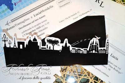 partecipazioni carta d'imbarco tema viaggio matrimonio