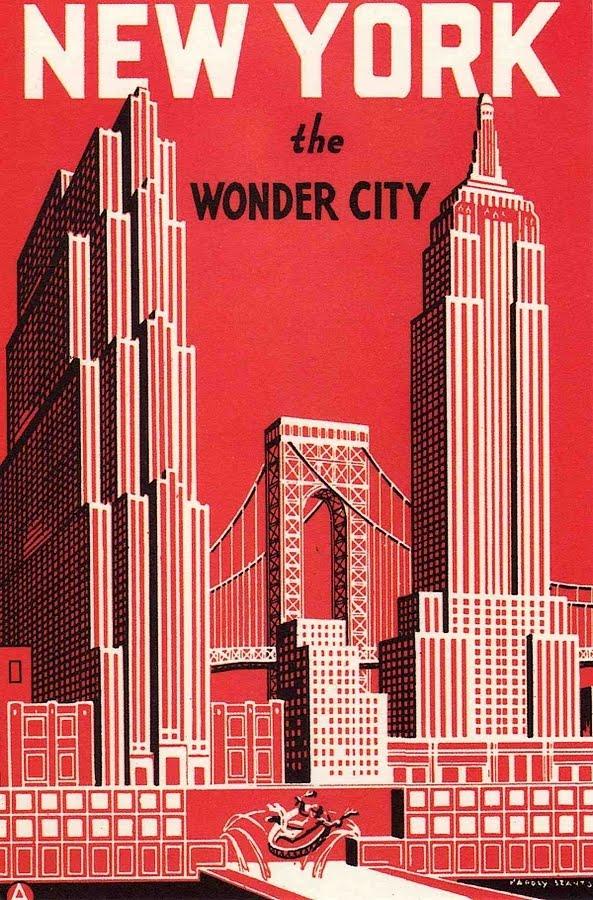 walk in new york new york vintage postcard nyc the wonder city. Black Bedroom Furniture Sets. Home Design Ideas