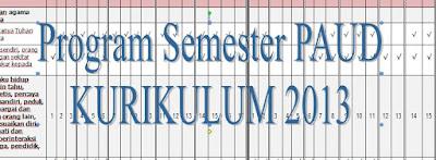 Program Semester PAUD/TK B Usia 4-5 Tahun Kurikulum 2013 Tahun 2018