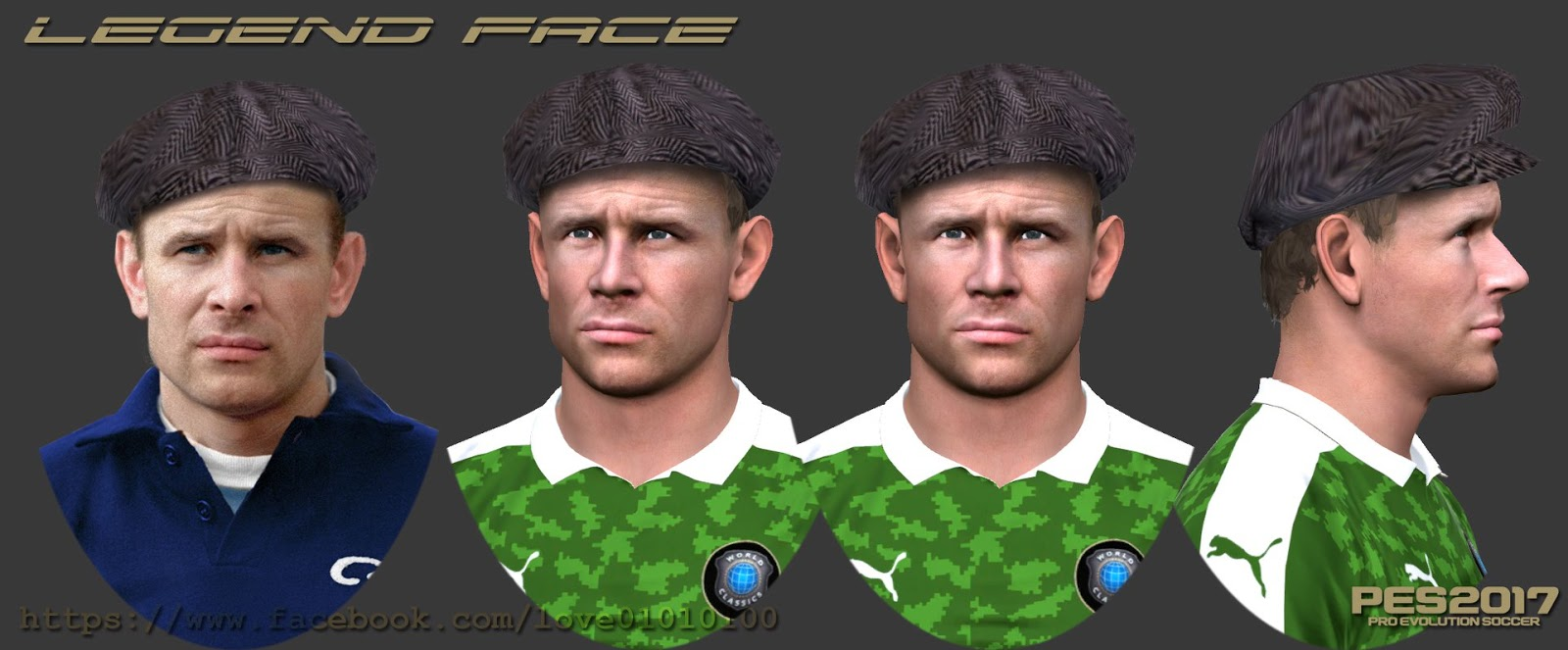 PES 2017 Lev Yashin face by Love01010100 Facemaker