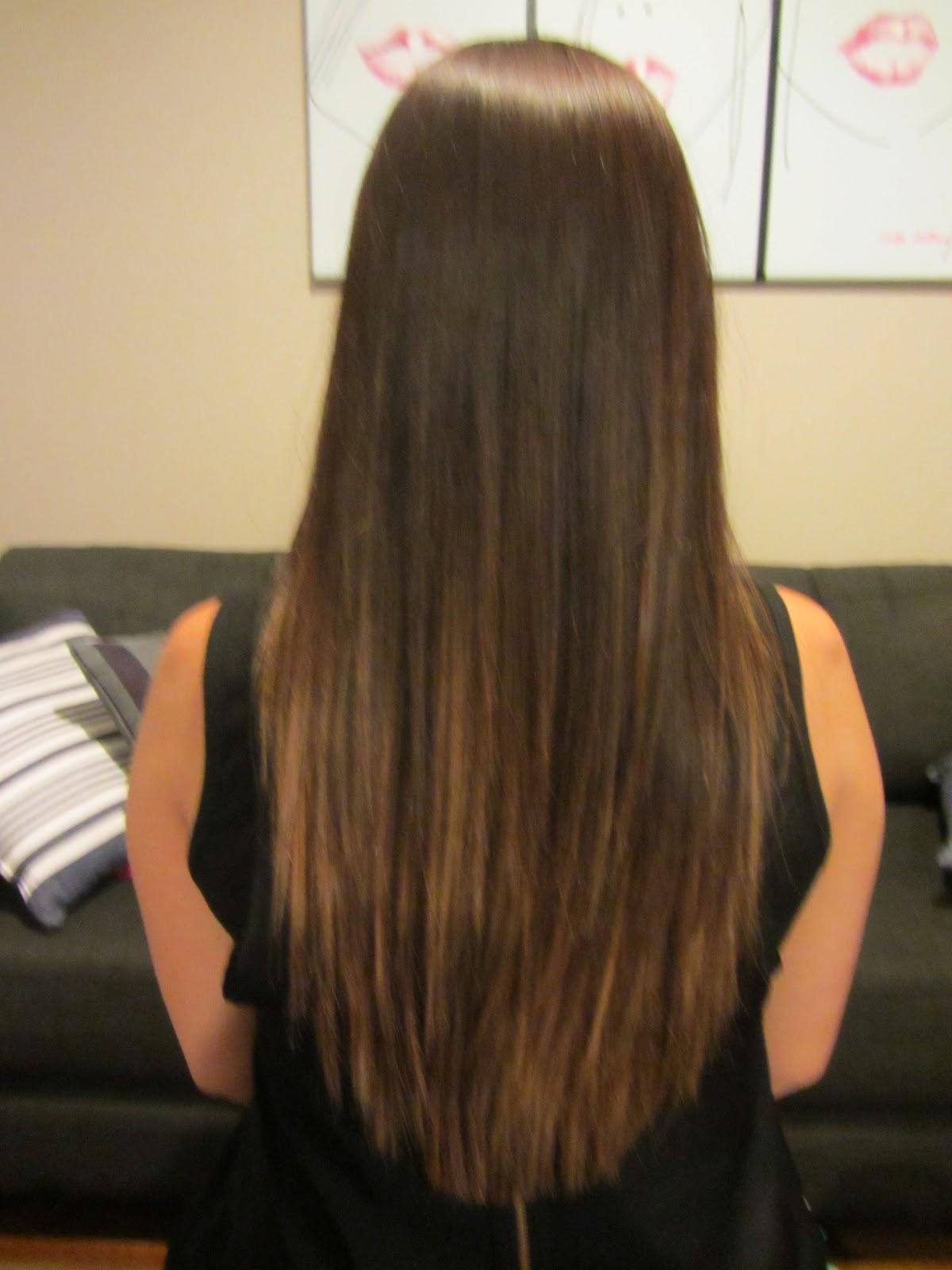Long Straight Haircuts Back View