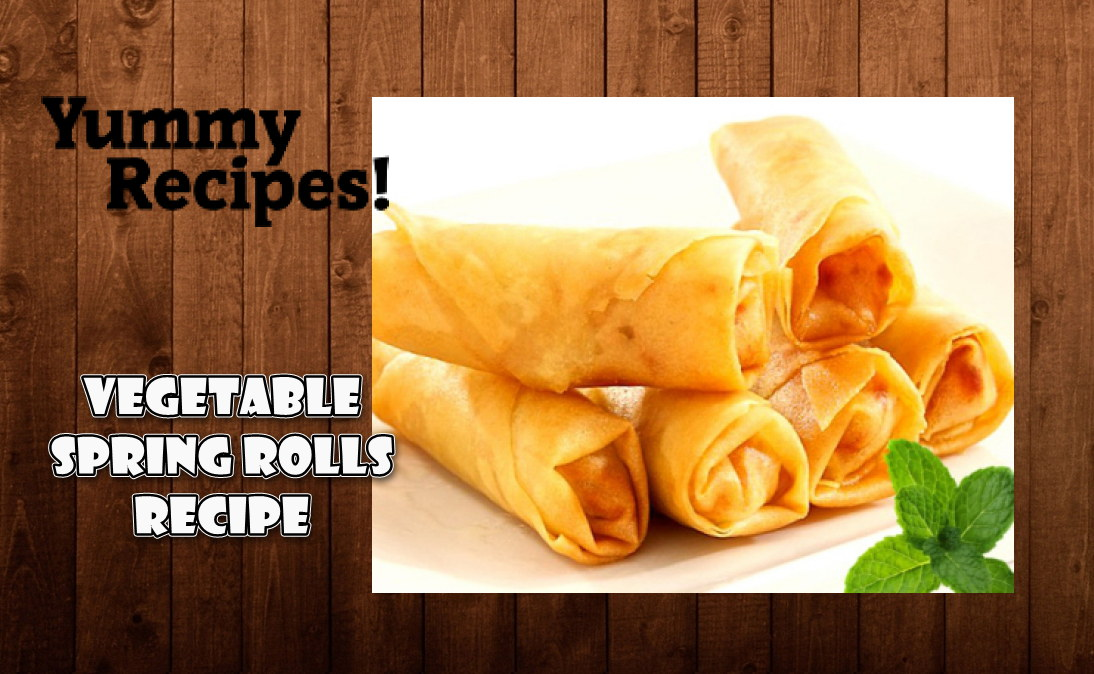 Veg. Spring Rolls Recipe - How To Make Veg. Spring Rolls