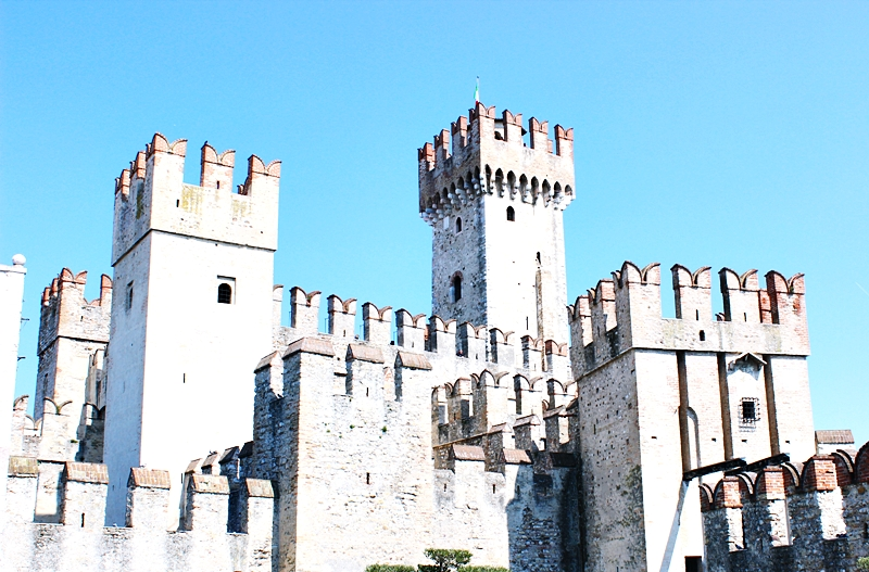 Scaliger fortress in Sirmione Italy.