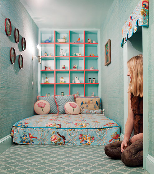 Pequeño Dormitorio Infantil Turquesa Home Improvement Design