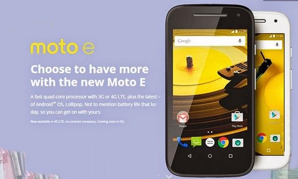 MotorolaMoto E 2nd Gen:4.5 inch,1.2 GHz quad-core Android Lollipop Smartphone Specs, Price