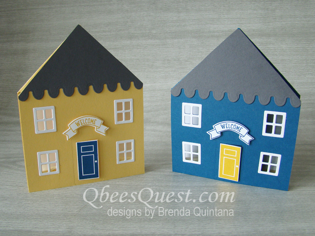 House Shaped Fancy Fold Card Qbees Quest