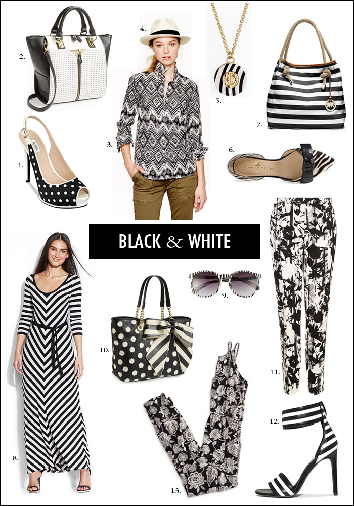 black and white, how to wear black and white, nordstrom, spring trends, macys vip sale