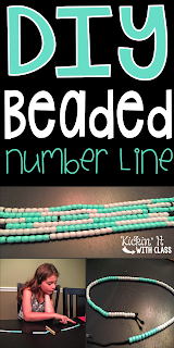 number line, math tool, DIY, guided math,