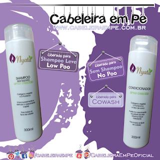 Shampoo (Low Poo) e Condicionador (No Poo e cowash) Amor Crescido - Nyata