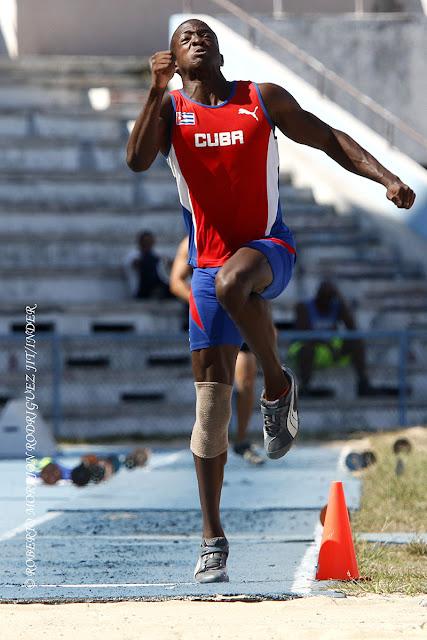 El saltador de  longitud  Maikel Massó, puso récord nacional cadete con su estirón hasta los 8.28 m