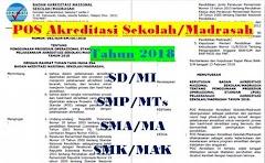 POS Akreditasi Sekolah/Madrasah Tahun 2018 SD SMP SMA SMK