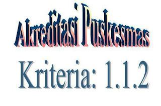 Akreditasi Puskesmas : Kriteria 1.1.2
