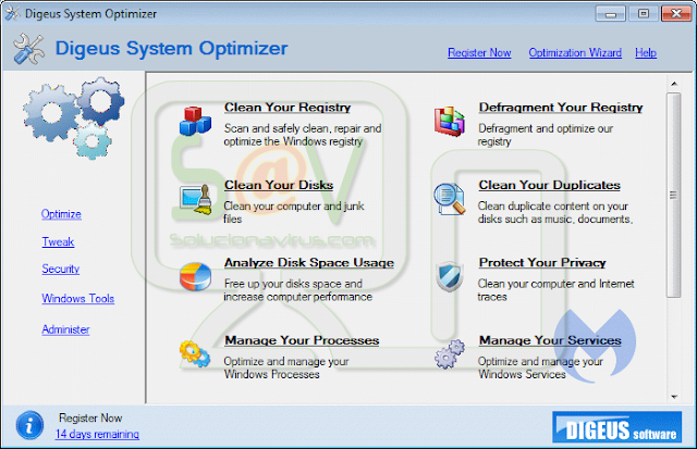 Digeus System Optimizer (Falso optimizador)
