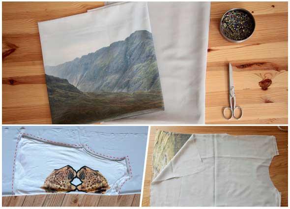 costura, impresión, tela, labores, customizar, bricomoda
