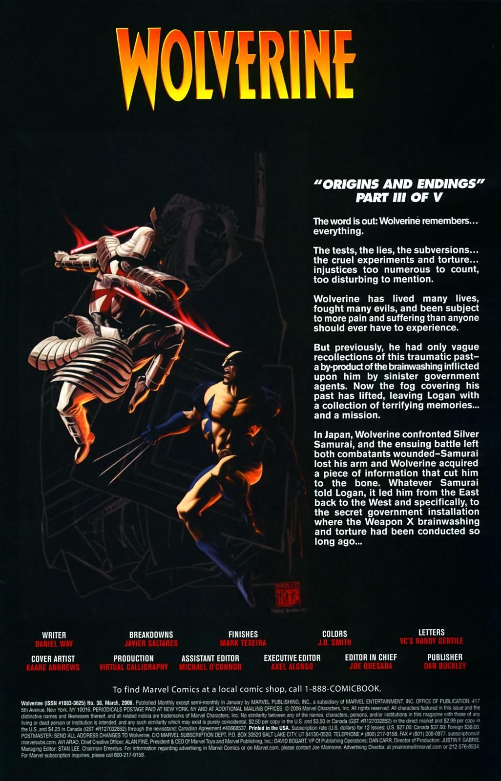 Read online Wolverine (2003) comic -  Issue #38 - 2