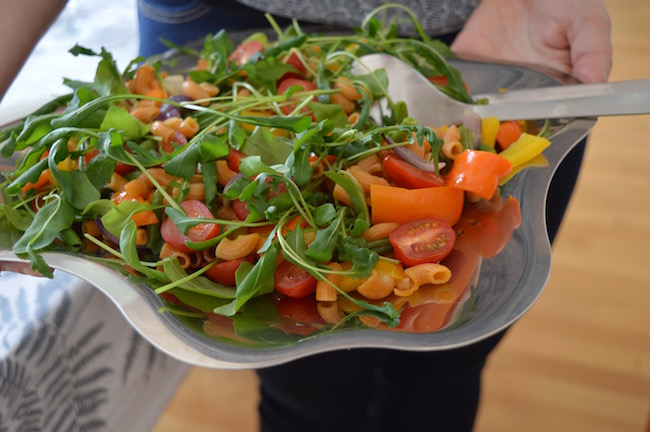 kikhernemakaroni, tervens oy, salaatti