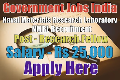 Naval Materials Research Laboratory NMRL Recruitment 2017