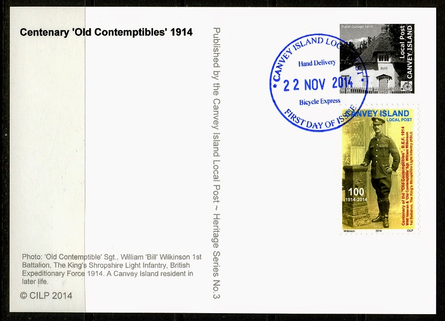 'Old Contemptibles' Maxi Card (reverse)