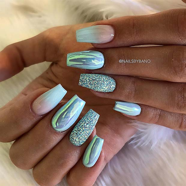 21+ Elegant Nail Art Ideas for Coffin Nails To Try This