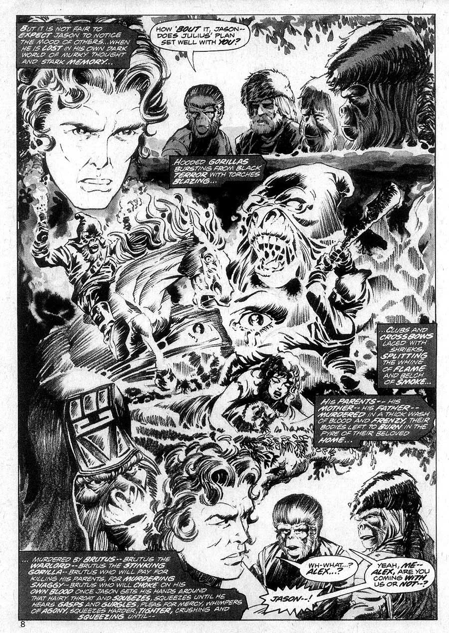 Planet of the Apes v1 #6 curtis magazine page art by Mike Ploog
