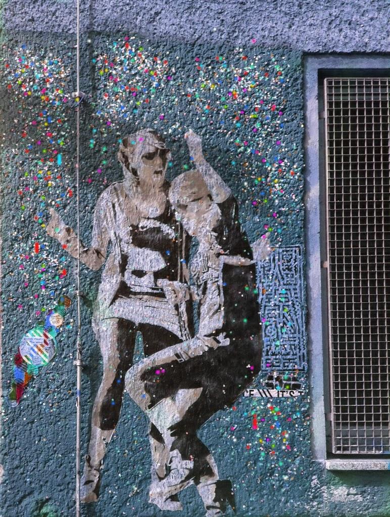 konfetti graffiti berlin mitte party ausgehen in berlin auf der straße street art blogs