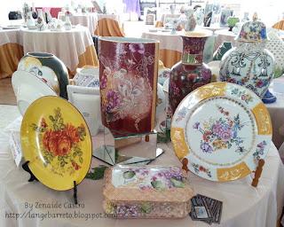 Porcelanas pintada a mão.