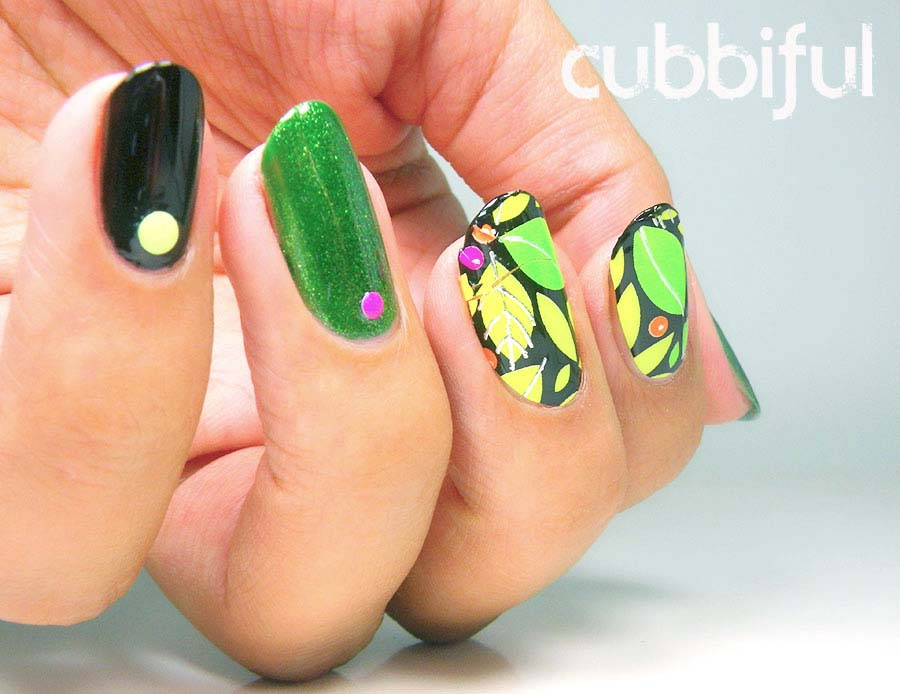 tropical skittlete nails