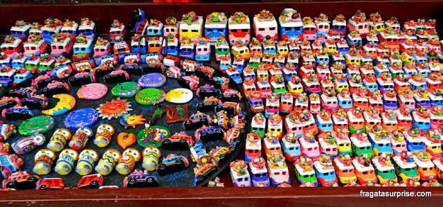 artesanato no Mercado de Chichicastenango, Guatemala