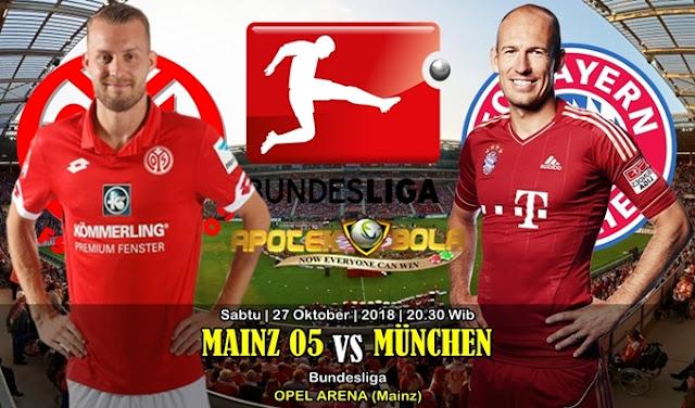 Prediksi Mainz vs Bayern Munich 27 Oktober 2018