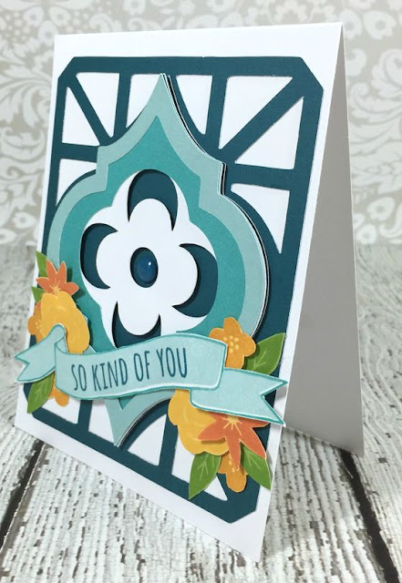 Cricut Artistry Moroccan Shape card