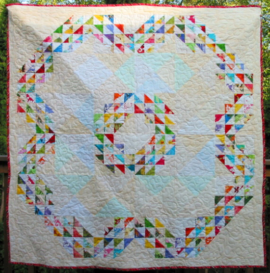 Baby Hawaiian Waves Quilt designed by Cindy Carter of Carter Quilter