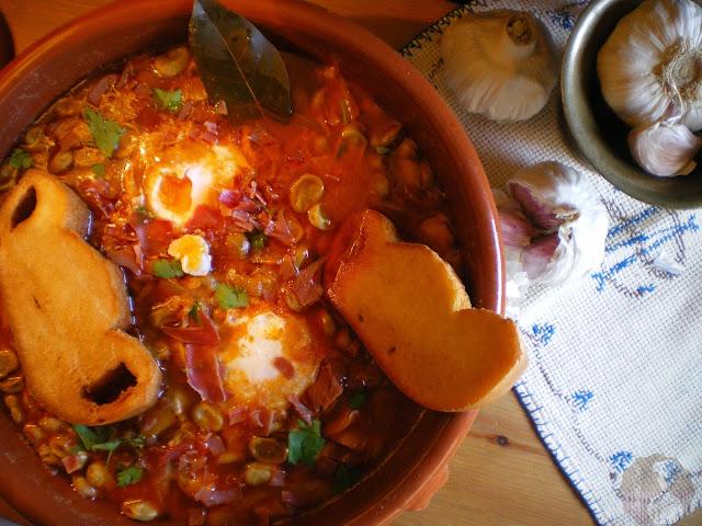 Cazuela de Habas con jamón al estilo manchego