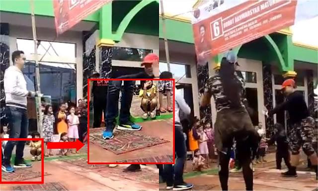 Heboh, Video Caleg PDIP Berjoget Ria di Atas Sajadah Masjid yang Dijadikan Alas