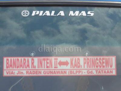 jurusan Bandara Raden Inten - Pringsewu