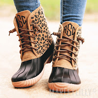 leopard design boots
