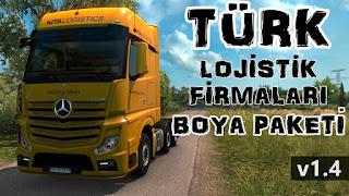 ets 2 turkish logistics companies paint jobs pack v1.4