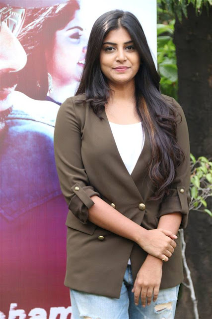manjima mohan latest stills at AYM Press meet