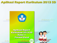 Download Aplikasi Raport Kurikulum 2013 SD Kelas 1 Format Excel