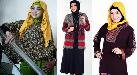 baju blus muslim wanita gendut