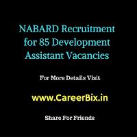 NABARD Recruitment for 85 Development Assistant Vacancies