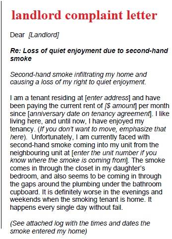 Complaint Letter Sample To Landlord | Best | Resume | Samples